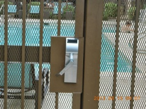 broken pool gate
