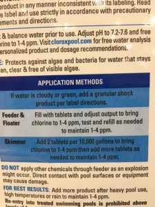 Clorox application method
